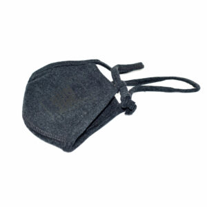 Mundbind - mørk grå stof - Corona sikkerhed fra Run the Wall